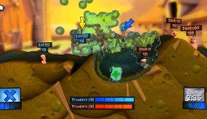 Worms Revolution water fight