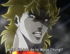 Jojo's Bizarre Adventure Episode 9 Dio Surprised