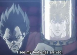 Jojo's Bizarre Adventure Episode 9 Dio my body has arrived