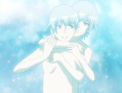 K episode 13 Shiro hugging Shiro