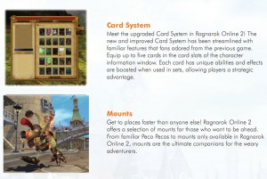 Ragnarok Online 2 legend of the Second Mounts and Cards