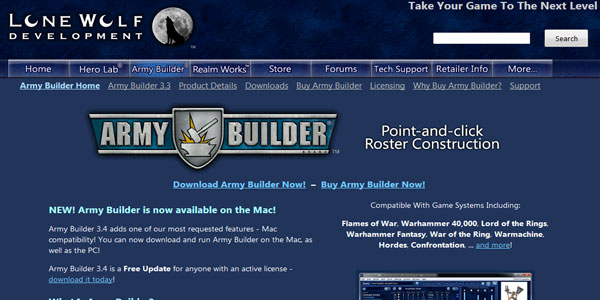 Army Builder Review Featured Site Image