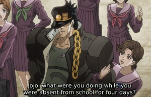 Jojo's Bizarre Adventure Episode 28 Annoying Girls
