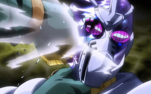 Jojo's Bizarre Adventure Episode 28 Star Platinum Defeats Hierophant Green