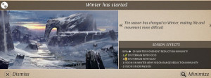 Endless Legend Winter Has Started