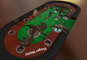 Tabletop Simulator RPG on a Poker Table
