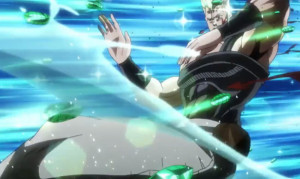 Jojo's Bizarre Adventure Episode 37 Polnareff blasted by Emerald Splash
